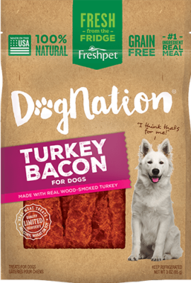 Dongation turkey bacon treats for dogs