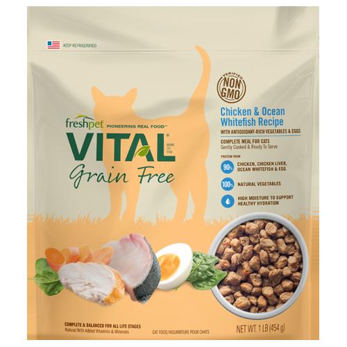 Freshpet Vital Grain Free Chicken Whitefish Cat Food