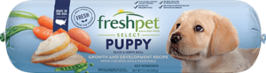 freshpet select puppy dog food roll front of roll