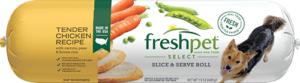 Freshpet Select tender chicken dog food roll front of roll