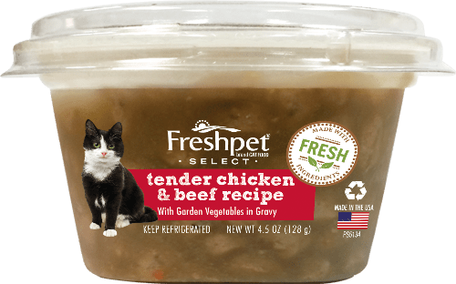 freshpet select tender chicken and beef cat food