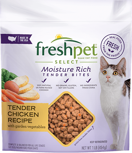 freshpet select tender chicken cat food package