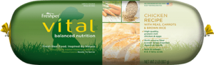 roll of vital balanced nutrition chicken dog food