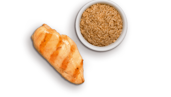 grilled chicken, brow rice