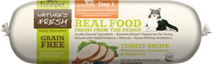 roll of nature's fresh grain free turkey