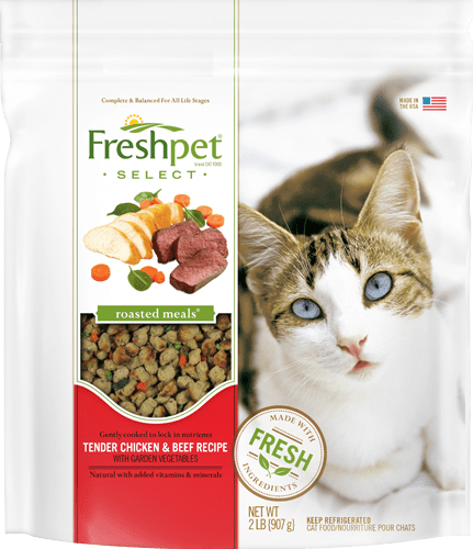freshpet select tender chicken and beef cat food package