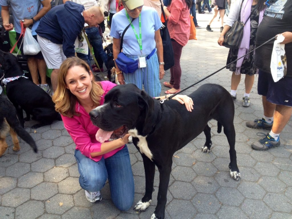 Dr. Katy enjoying her first Central Park Paws Fair!