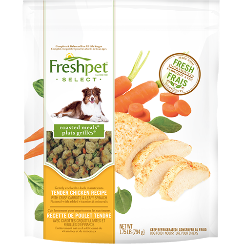 Freshpet healthy dog food and cat food fresh from the fridge freshpet select roasted meals tender chicken with garden vegetables dog food recipe forumfinder Images