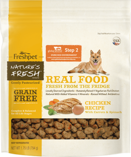 nature's fresh grain free chicken dog food package
