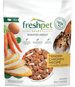 freshpet select tender chicken dog food front of package