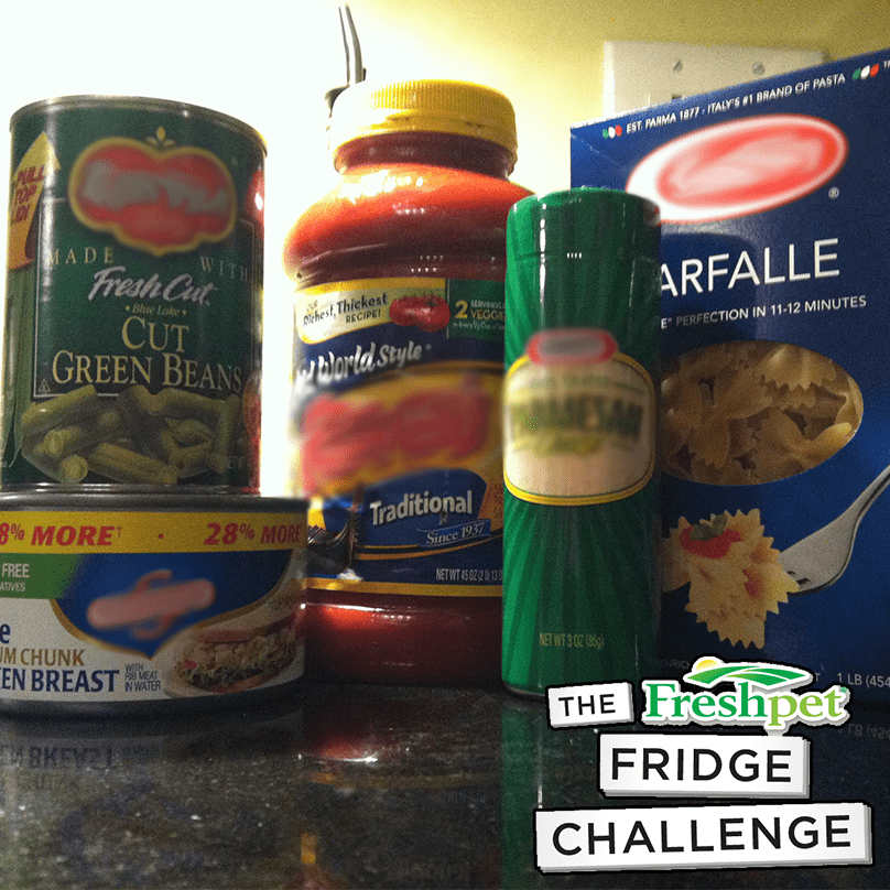 What we picked up at the store for our Fridge Challenge Meal!