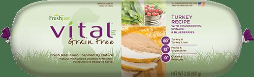 vital grain free turkey dog food roll