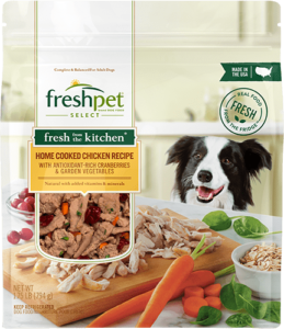 Freshpet Select Home Cooked Chicken dog food front of package