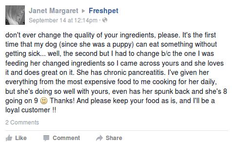 Freshpet Facebook