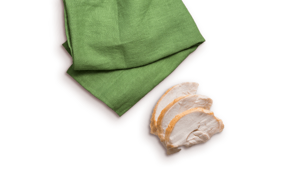 turkey slices and green napkin