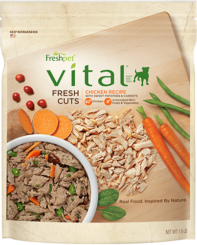 freshpet vital fresh cuts chicken dog food package