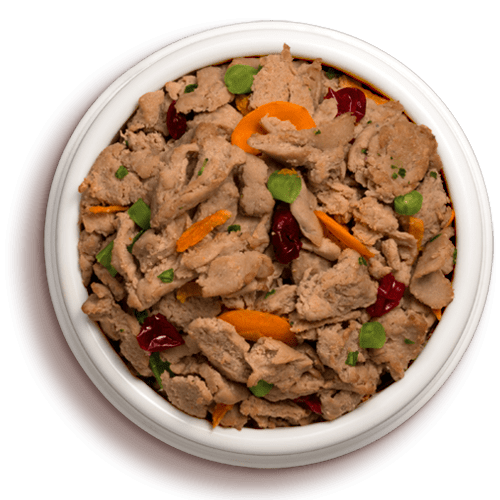 bowl of vital fresh cuts chicken dog food