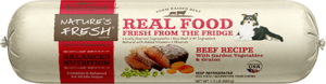 nature's fresh beef dog food roll