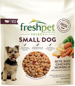 package of freshpet select small dog