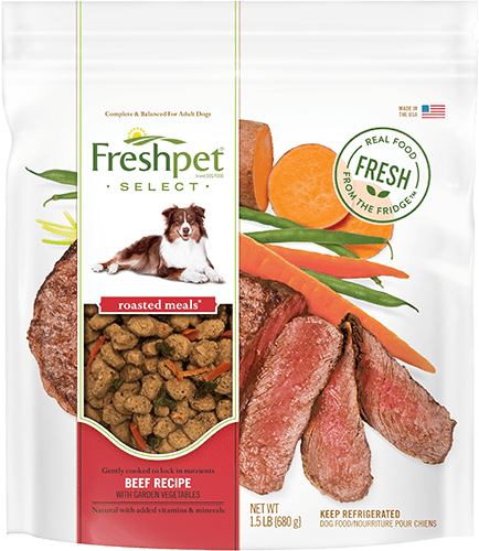 freshpet select beef recipe package
