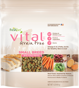 freshpet vital grain free small breed package
