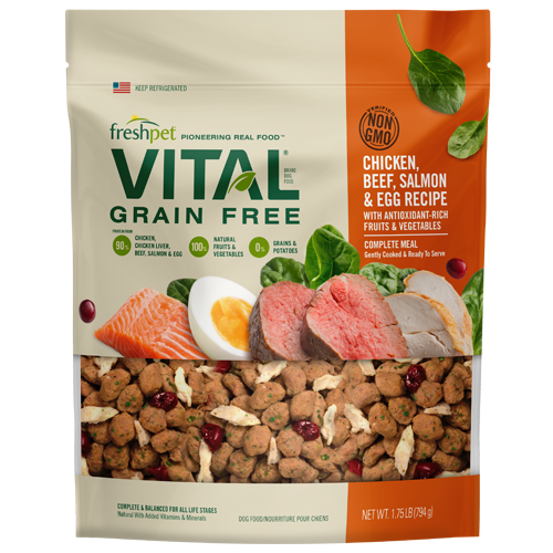 Freshpet Vital Grain Free Chicken Beef Salmon Dog Food Bag