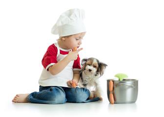 healthy dog food being prepared